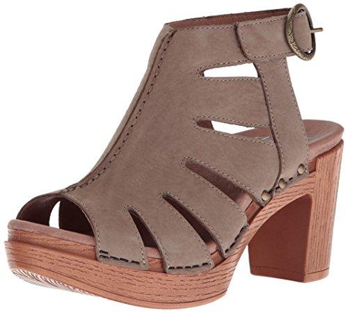 Dansko Women's Demetra Ankle Bootie, Taupe Milled Nubuck, 38 EU/7.5-8 M US