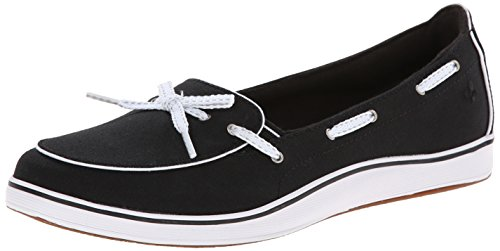 Grasshoppers Women's Windham Slip-On, Black, 11 XW US