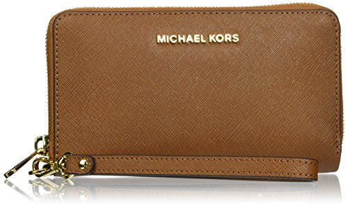 Michael Kors Women's Jet Set Travel Large Smartphone Wristlet, Luggage, OS