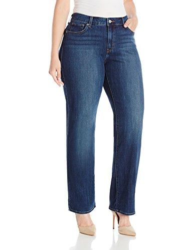 Levi's Women's Plus-Size 414 Classic Straight Jean's, Oak Blues, 36 (US 16) R