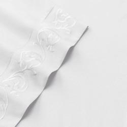 Veratex Elantra Sheets, White Full