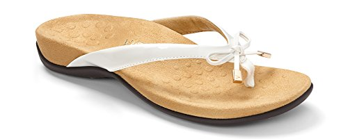 Vionic Women's Rest BellaII Toepost Sandal White 7N US