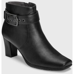 Women's A2 by Aerosoles Monorail Ankle Boots – Black 8