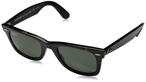 Ray-Ban WAYFARER – TORTOISE Frame CRYSTAL GREEN POLARIZED Lenses 50mm Polarized