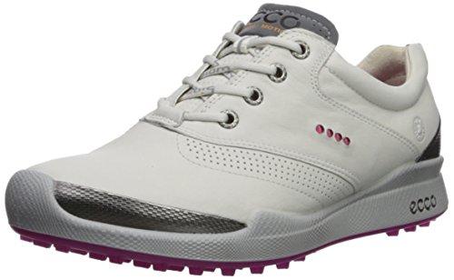ECCO Women's Biom Hybrid Golf Shoe, White/Candy, 39 M EU (8-8.5 US)