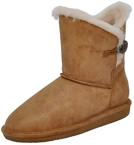 BEARPAW Women's Rosie Winter Boot (8 B(M) US, Tan Smooth)