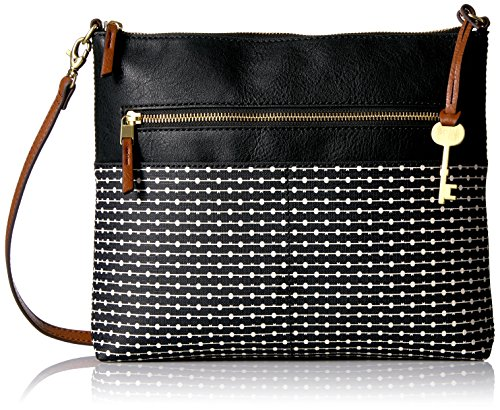 Fossil Fiona Large Crossbody, Black Stripe, One Size
