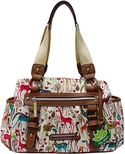 Lily Bloom Triple Section Landon Multi-Purpose Satchel Bag (GIRAFFEIC PARK)