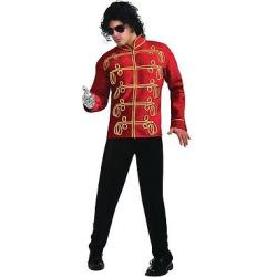 Men's Michael Jackson Military Jacket Costume Small, Black/Gold