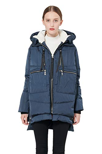 Orolay Women's Thickened Down Jacket (Most Wished &Gift Ideas) (2XS, Navy)
