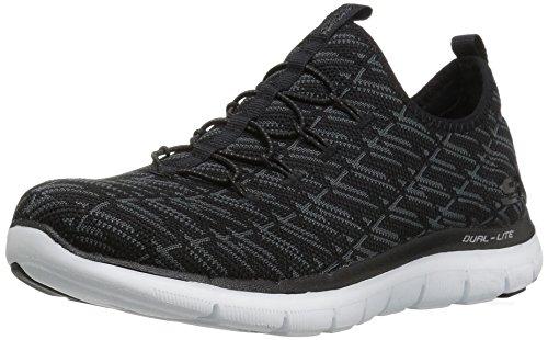 Skechers Sport Women's Flex Appeal 2.0 Insight Sneaker,black charcoal,7.5 M US