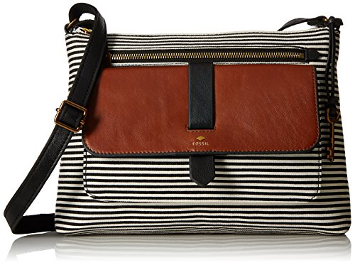 Fossil Kinley Crossbody Bag, Black Stripe