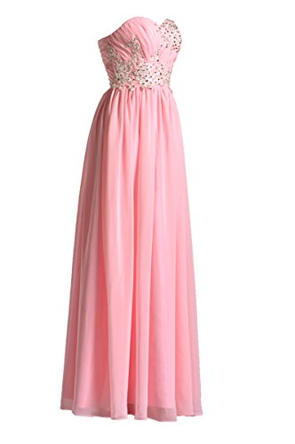 99Gown Prom Dresses Lace Special Occasion Gown Formal Dresses for Women Long Bridesmaid Dress, Color Pink,14