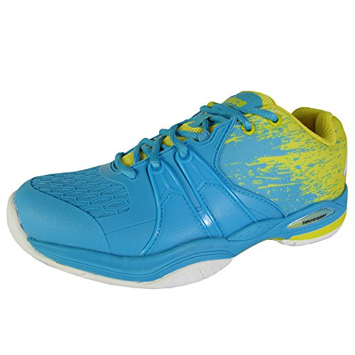Prince Womens Warrior Lite Tennis Sneaker Shoes, Blue/Yellow, US 6.5