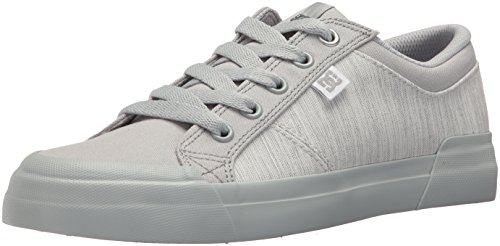 DC Women's Danni Tx Se Skate Shoe, Grey, 8 B US