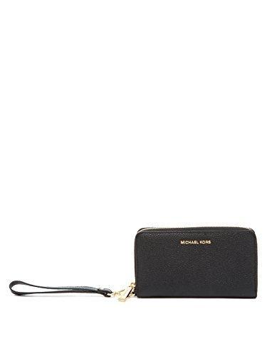 MICHAEL Michael Kors KORS STUDIO Large Flat Phone Case Wristlet Black