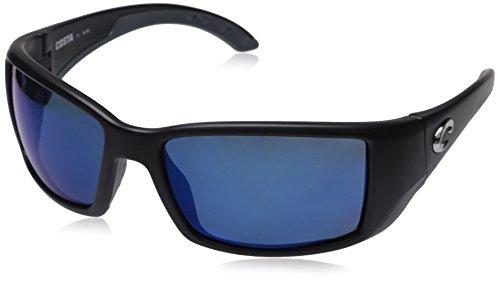 Costa Del Mar Blackfin Sunglasses, Black, Blue Mirror 580 Plastic Lens