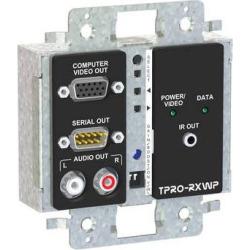 FSR TPRO-RXWPD-BLK 2-Gang Wall Plate Receiver (Black) TPRO-RXWPD-BLK