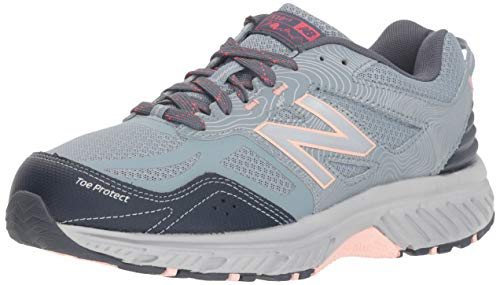 New Balance Women's 510v4 Cushioning Trail Running Shoe, Cyclone/Thunder/Himalayan Pink, 9 D US