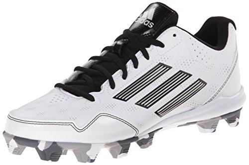 adidas Performance Women's Wheelhouse 2 W Softball Cleat, White/Black/Metallic/Silver, 7 M US