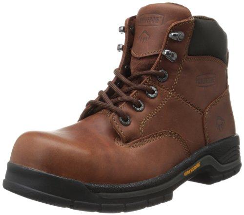 Wolverine Women's Harrison Steel Toe Safety Boot-W, Brown, 6.5 W US