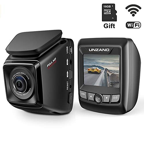 Dash Cam FHD 1080P Built-in WiFi with APP Dashboard Camera Recorder 170°Wide Angle Car DVR, WDR, Loop Recording, G-Sensor