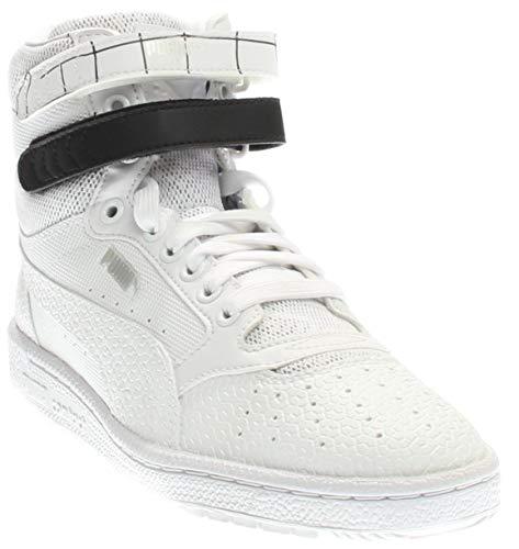 PUMA Women's Sky ii hi sf Texture WN's Basketball Shoe, White Black, 8.5 M US