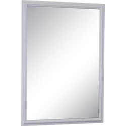 Alpine Savannah Beveled Glass Wall Mirror Brushed White (27″ X 39″)