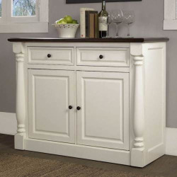 Crosley Furniture Shelby Buffet Storage Cabinet, White