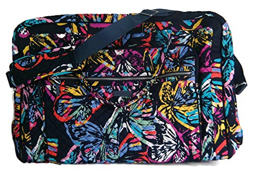 Vera Bradley Iconic Grand Weekender Travel Bag, Signature Cotton, Butterfly Flutter