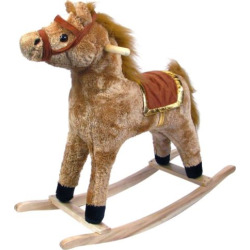 Happy Trails Plush Rocking Horse, Brown