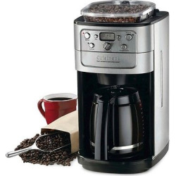 Cuisinart Fully Automatic Grind & Brew 12 Cup Coffee Maker – Brushed Chrome Dgb-700BC, Black