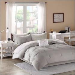 Gray Kara Comforter and Sheet Set (Full)