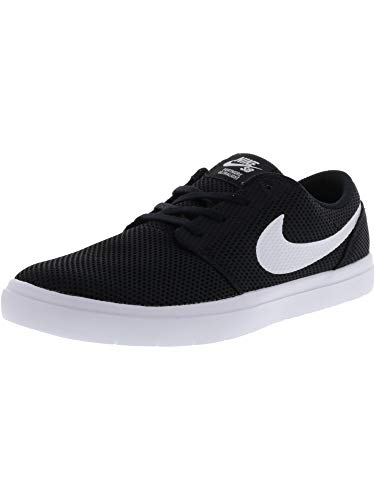 Nike Men's Sb Portmore Ii Ultralight Black/White Ankle-High Skateboarding Shoe – 8M