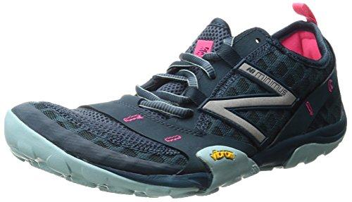 New Balance Women's WT10v1 Minimus Trail Running Shoe, Grey/Blue, 9 D US