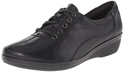 Clarks Women's Everlay Elma Oxford, Black Leather, 10 M US