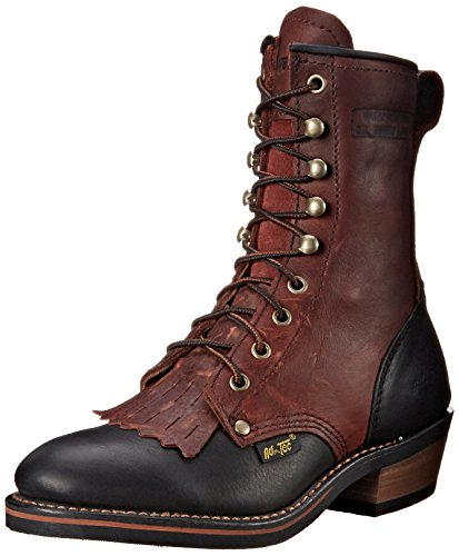 Adtec Women's 8″ Packer Black/Dark Cherry-W Boot, 9.5 M US