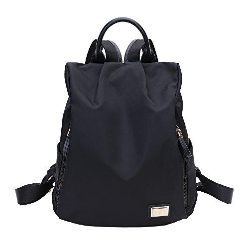 Laifu Women Backpack Purse Waterproof Nylon Anti-theft Rucksack Lightweight School Shoulder Bag
