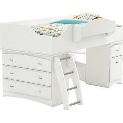 Imagine Storage Loft Kids Bed White (Twin) – South Shore