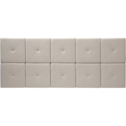Upholstered Linen Headboard Tiles – Natural(King), Beige