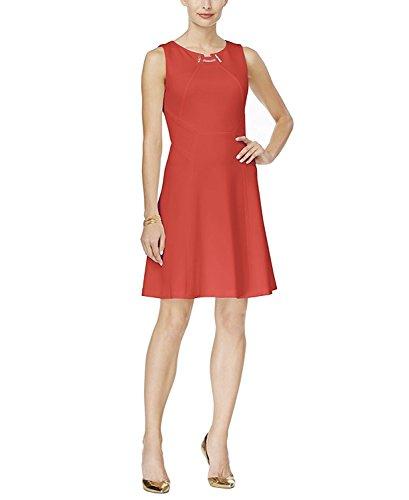 Ivanka Trump Women's Ponte Sheath Toggle Dress (10, Strawberry)