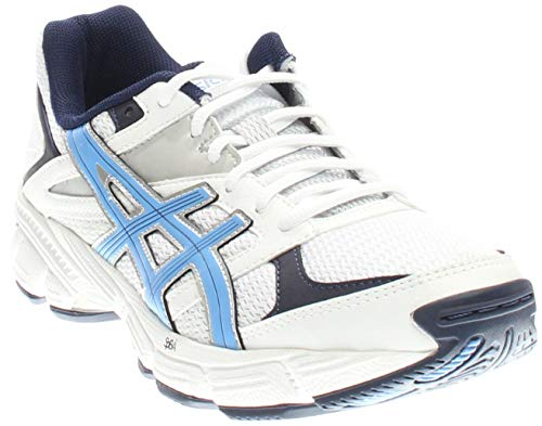 ASICS Women's gel-190 tr, White/Periwinkle/Midnight Navy, 12 M US
