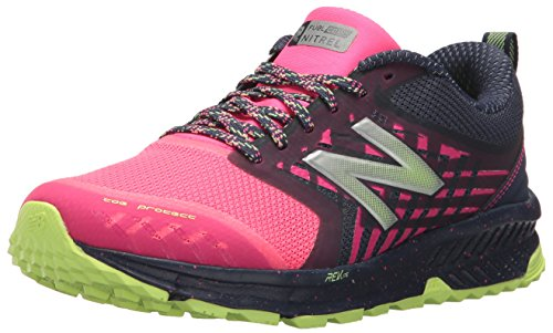 New Balance Women's Nitrel v1 FuelCore Trail Running Shoe, Grey/Pink, 9.5 B US
