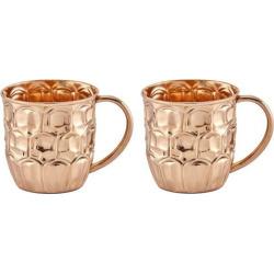 Old Dutch Solid Copper Beer Krug Set, Clrs