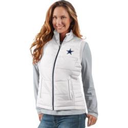 Women's Dallas Cowboys Puffer Vest, Size: Small, White