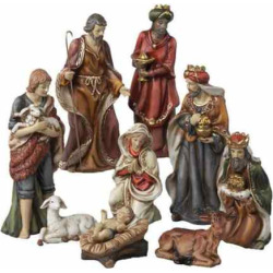 Kurt S. Adler 9-pc. Christmas Nativity Figure Set, Brown