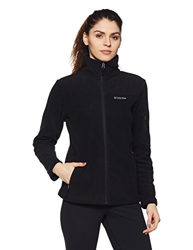 Columbia Women's Fast Trek Ii Full Zip Fleece Jacket Outerwear, black, S