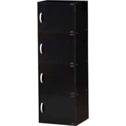 Hodedah Import Storage Cabinet – Black