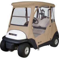 Classic Accessories Club Car Precedent Golf Cart Cover, Beig/Green (Beig/Khaki)