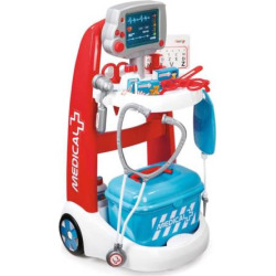 Smoby Doctor Trolley Playset, Multicolor